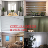 cortina blackout para sala valores Brooklin