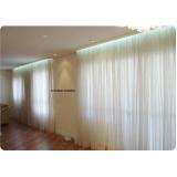 cortina franzida com argolas no Campo Grande