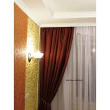 cortina franzida no trilho no Alto de Pinheiros