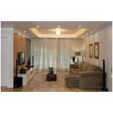 cortina para sala com sanca de gesso feito sob medida Vila Leopoldina